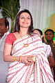 Rani Mukerji at Esha Deol's wedding at ISCKON temple 26.jpg