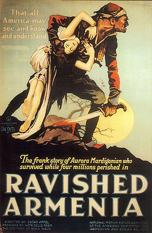 Русский: Афиша фильма «Ravished Armenia», 1919