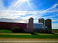 Really Long Barn with Four Silos - panoramio.jpg