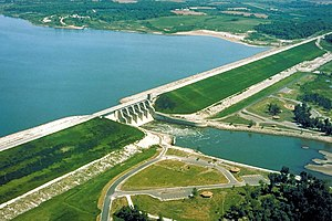 Red Rock Lake and Dam Iowa