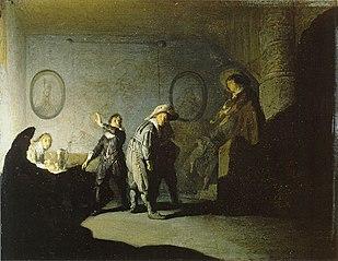 Interior with figures (La main chaude)