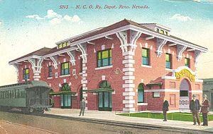Nevada–California–Oregon Railway - NCO station in Reno, Nevada