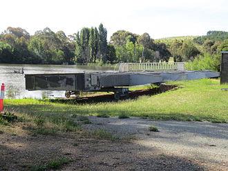 Scrivener Dam - Spare dam gate for Scrivener Dam stored at Yarramundi Reach Lake Burley Griffin Canberra