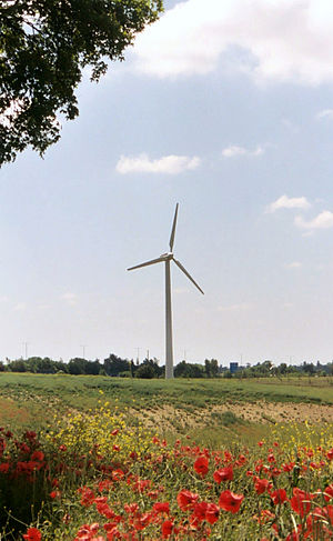Photo of the RES wind turbine