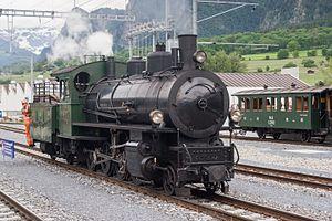 """Rhaetian Railway G 4/5 - RhB G 4-5 Nr. 107 """"Albula"""" in Untervaz-Trimmis"""