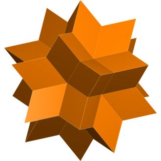 Rhombic triacontahedron - Rhombic hexecontahedron