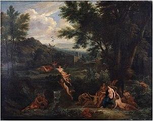 Les Piérides changées en pies (d'après Ovidius)