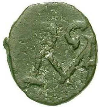 Ricimer - Bronze coin with Ricimer's monogram