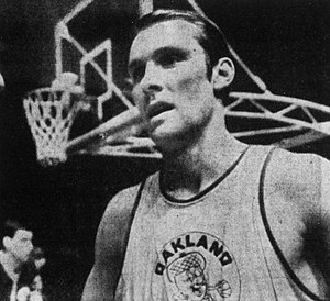 1969 ABA All-Star Game - Rick Barry before the 1969 ABA All-Star Game in Louisville, Kentucky