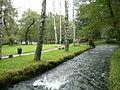 River Bosna at Vrelo Bosne Park in Sarajevo.JPG