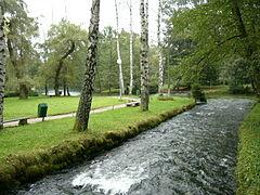 River Bosna at Vrelo Bosne Park in Sarajevo