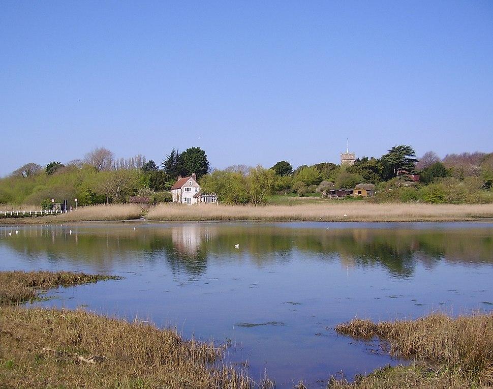 River Yar at Freshwater, IW, UK