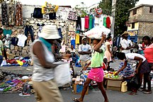 海地-经济-Roadside market in Port-au-Prince 2010-01-20 2