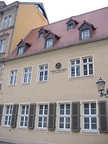 English: House of Robert Schumann in Zwickau (...