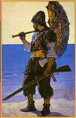 English: Robinson Crusoe illustration