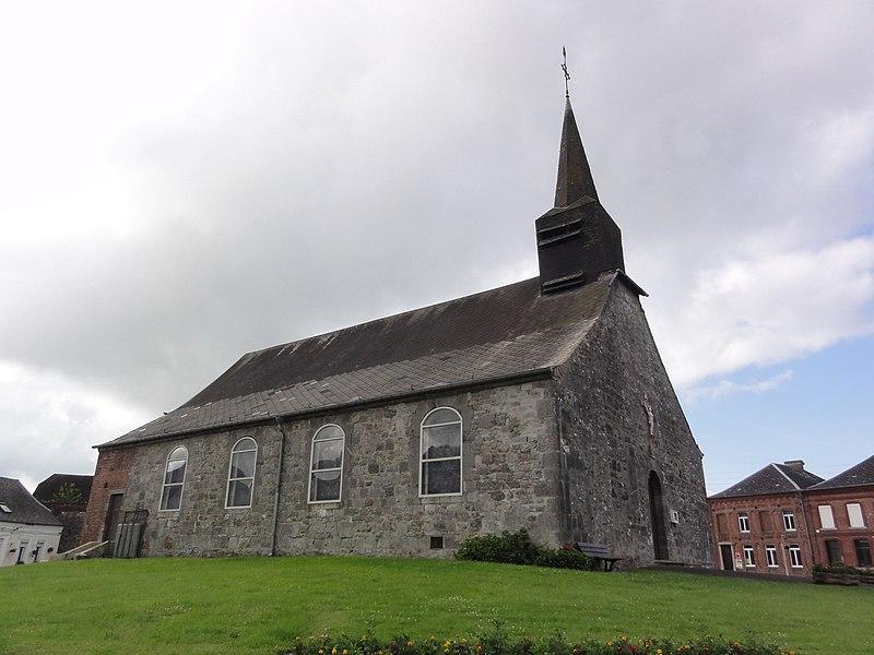 Rocquigny (Aisne) église (nord)