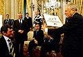 Roland Ruepp consegna al presidente Ciampi il logo delle paralimpiadi invernali di Torino 2006.jpg