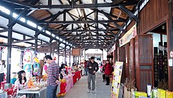 Market stalls at the renovated Tuku First Market Building
