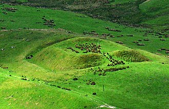 Lowther Hills - Roman Fortlet from Durisdeer Rig - Southern Uplands of Scotland.