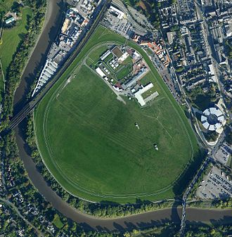 Chester Racecourse - Aerial view of the Racecourse.
