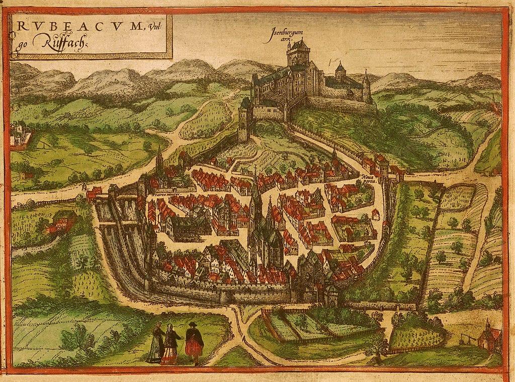 План Rouffach в 1557 году