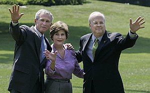 Karl Rove - Rove with George W. and Laura Bush