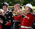 Royal Military College of Canada band piper and bugler, Remembrance Day.jpg