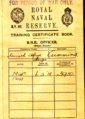 Royal Naval Reserve Officer Training Certificate Book.png