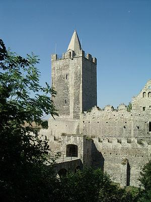 Rudelsburg - Image: Rudelsburg Tower and Gate