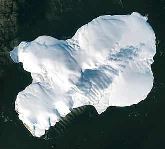 Rudolf Island - Rudolf Island, satellite image Sentinel-2