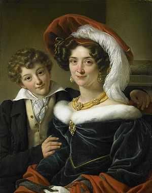 Johannes van den Bosch - Second wife and son of Count van den Bosch by Cornelis Kruseman.