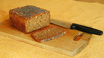 English: Danish homemade ryebread with whole a...