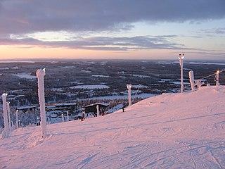 Rukatunturi mountain in Kuusamo, Finland