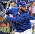 Russell Martin takes batting practice before the AL Wild Card Game. (30071408001).jpg