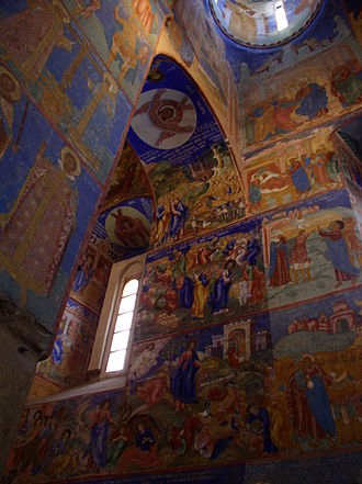 Monastery of Saint Euthymius - Frescoes inside the Transfiguration Cathedral