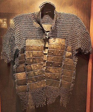 Mail and plate armour - Russian mail and plate armour (behterets), Hermanni linn Museum, Narva, Estonia.