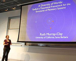 Ruth Murray-Clay - Ruth Murray-Clay presenting at the 2015 ExSoCal meeting at Caltech.