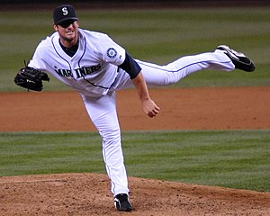 Ryan Rowland-Smith i Seattle Mariners dräkt 2008.