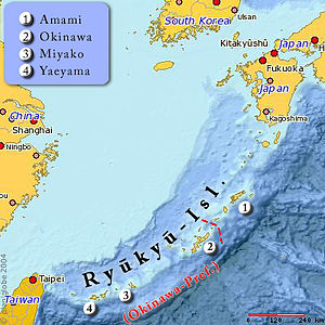 Ryukyu Domain - Ryukyu Domain included the southern-half of the Ryukyu Islands.