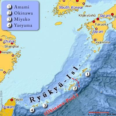 Ryukyu map