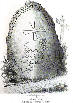 Södermanland Runic Inscription 298 - Image: Sö 298, Uringe malm