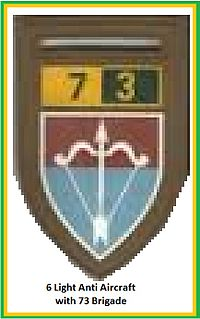 SADF 7 Division 73 Brigade 6 Light Anti Aircraft Flash