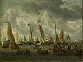 SA 22993-Het Spiegelgevecht op het IJ ter ere van het Moskovisch gezantschap (1 september 1697)-Spiegelgevecht op het IJ op 1 september 1697 ter ere van het bezoek van Tsaar Peter de Grote.jpg