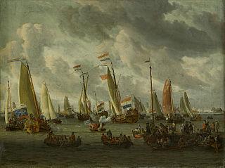 Het Spiegelgevecht op het IJ ter ere van het Moskovisch gezantschap (1 september 1697)
