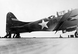 SBD-3 B15 after landing on USS Enterprise (CV-6) 1942.jpeg
