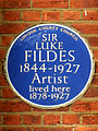 SIR LUKE FILDES 1844-1927 Artist lived here 1878-1927.jpg