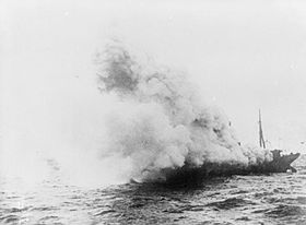 SMS Meteor on fire - IWM SP 1087.jpg