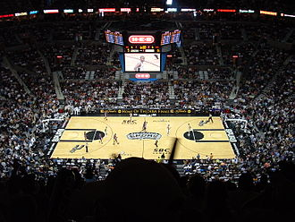 2003–04 San Antonio Spurs season - The San Antonio Spurs hosting the Los Angeles Lakers in Game 1 of the 2004 Western Conference Semifinals at the SBC Center.