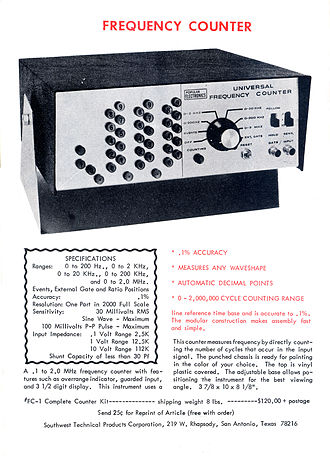 Popular Electronics - A Popular Electronics project designed by Don Lancaster and sold by Daniel Meyer's Southwest Technical Products Corp.