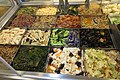 SZ 深圳市 Shenzhen 福田 Futian 國際人才大廈 Rencai Building 華潤萬家超級市場 Vanguard Supermarket cool food mixing 涼拌食品 Chinese cold salad Sept 2017 IX1 02.jpg